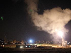 """""""Iron Dome"""" fängt eine Rakete aus dem Gazastreifen ab (Foto: MFA)"""